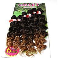 mély Twist göndör Zsinór Póthajak Kanekalon Hair Zsinór