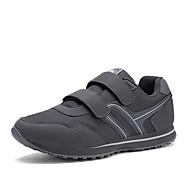 Women's Athletic Shoes Fall / Winter Comfort PU Athletic / Casual Flat Heel Magic Tape Blue / Gray / Burgundy Sneaker