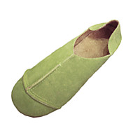 Damen Loafers & Slip-Ons Komfort Slouch Stiefel PU Frühling Sommer Herbst Normal Komfort Slouch Stiefel Niedriger Absatz Schwarz Gelb Grün