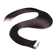 neitsi 28 10pcs '' / pack fita de 2g / pc na cor natural extensões de cabelo humano da pele virgem extensões de trama