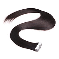 neitsi 28 '' 10pcs / חבילת קלטות 2G / pc תוספות שיער אדם טבעי צבע רחבות ערב עור בתולה