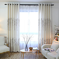 שני פנאלים טיפול חלון ארופאי , אנימציה חדר שינה שילוב פשתן/פוליאסטר חוֹמֶר וילונות וילונות קישוט הבית For חַלוֹן