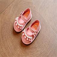 女の子 赤ちゃん サンダル コンフォートシューズ レザー スポーツ カジュアル ランニング コンフォートシューズ ベージュ ピンク フラット
