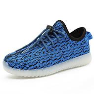 Sneakers-Mikrofiber-Light Up Sko-Drenge-Rød Grå Oliven Marineblå Rose Lyserød-Fritid-Flad hæl