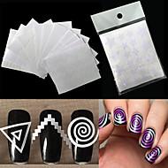 12 Nagelkunst sticker Diecut manicure stencil make-up Cosmetische Nagelkunst ontwerp