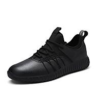 Muškarci Sneakers Proljeće Ljeto Jesen Zima Ostalo Umjetna koža Ured i karijera Ležeran Atletika Ravna potpetica VezanjeCrna Crvena