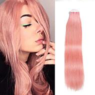 20ks / lot 18inch pásku ve 100% lidské prodlužování vlasů kožní pu útku 40g zvýrazněny rovné vlasy