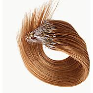 βραζιλιάνα remy μαλλιά ίσια μικρο βρόχο επεκτάσεις ανθρώπινα μαλλιών indian indian καμία τρίχα δαχτυλίδι κουβάρι μικρο