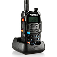 Wanhua uv6s walkie talkie VHF 136-174MHz uhf 400-520mhz 128ch 8W walkie talkie