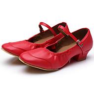 Obyčejné-Dámské-Taneční boty-Moderní-Koženka-Nízký podpatek