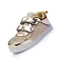 Tenisky-Látka-Pohodlné Light Up boty-Dívčí-Růžová Stříbrná Zlatá-Běžné-Plochá podrážka