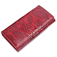 Contacts Women Patent Leather Snikeskin Embossed Long Wallet Phone Holder Checkbook Wallet
