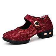 Sapatos de Dança(Preto Vermelho Branco) -Feminino-Não Personalizável-Latina Jazz Tênis de Dança Moderna Sapatos de Swing Botas de Dança