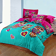 Owl Duvet Cover+Pillowcases 3pcs bedding set