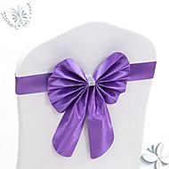 10st stretch bowknots stoel sjerpen voor bruiloft stoelen back-decoraties elastische bogen voor hotel stoel te dekken decoratieve banden