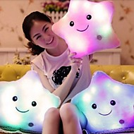 1Pcs 40Cm*35Cm  Colorful Body Pillow Star Glow Led Luminous Light Pillow Cushion Soft Relax Gift Smile  Body Pillow  Random  Color