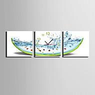 MINI SIZE E-HOME Watermelon Fantasy Clock in Canvas 3pcs