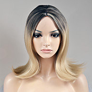 European and American fashion in the long section of the gradual change in black gold in the high temperature wire wig