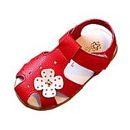 Vauvat Tyttöjen Sandaalit Comfort Tekonahka Kevät Kesä Syksy Kausaliteetti Kävely Comfort Soljilla TasapohjaValkoinen Musta Punainen