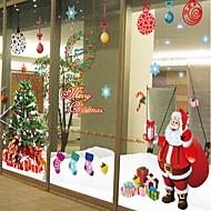 Vánoce Romantika Prázdninový Samolepky na zeď Samolepky na stěnu Ozdobné samolepky na zeď,Papír Materiál Snímatelné Home dekoraceLepicí