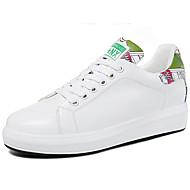 Women's Sneakers Spring Summer Comfort Leatherette Office & Career Athletic Casual Flat Heel Others Black White