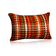 1 pcs Linen Pillow CaseTextured Plaid Traditional/Classic with Small Size (45*30cm)