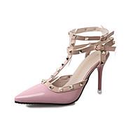 Черный Розовый Красный-Женский-Повседневный-Лакированная кожа-На шпильке-Удобная обувь-Обувь на каблуках
