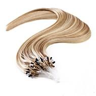 neitsi 20 '' micro anneau Les extensions droites de cheveux humains droite facile cheveux boucle remy 25g hombre 1g / s