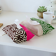 Storage Boxes Desktop Organizers Car Storage Sets Textile with Canvas Tissue Box Holder Tissue Bag  Random Colors