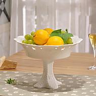 White Color Ceramic Tableware Tray Cake Pan Cupcake Stand Cupcake Dessert Dish Fruit Plate Tray