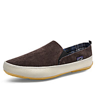 Men's Loafers & Slip-Ons Spring Summer Fall Winter Espadrilles Canvas Office & Career Athletic Casual Flat Heel Blue Brown Red