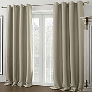 Dois Painéis Tratamento janela Moderno , Sólido Sala de Estar Poliéster Material Cortinas Blackout Decoração para casa For Janela