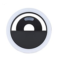Portable Mini Clip-on Fill-in 36 LED Selfie Ring Light Lamp Night Using Supplementary Lighting 3 Modes for iPhone 7 / 7 Plus / 6s / 6s Plus / Samsung