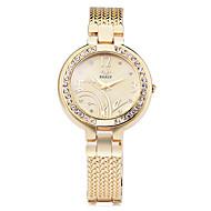 Women's Fashion Watch Bracelet Watch Simulated Diamond Watch Strap Watch Quartz Alloy Band Flower Elegant Silver Gold Rose Gold