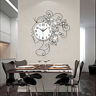 Creative Girl Luxury Set Auger Large Wall Clock/ Sitting Room Bedroom Mute Quartz Clock/ European Fashion Wall Clock