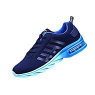 Masculino-Tênis-Conforto-Rasteiro-Azul Laranja Preto vermelho-Couro Ecológico-Ar-Livre Casual
