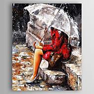 Handgeschilderde Abstract Mensen Verticaal,Modern Eén paneel Canvas Hang-geschilderd olieverfschilderij For Huisdecoratie