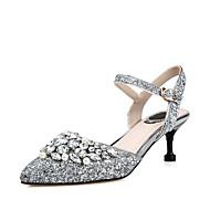 Sandály-Personalizované materiály-Jiné D´Orsay-Dámské-Stříbrná-Svatba Šaty Party-Vysoký