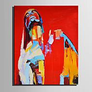 Håndmalte Abstrakt Mennesker Vertikal,Moderne Europeisk Stil Et Panel Lerret Hang malte oljemaleri For Hjem Dekor