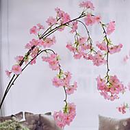 1 Ramo Seda Sakura Guirlandas & Flor de Parede Flores artificiais