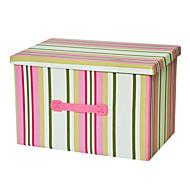 raylinedo® 39l sammenleggbare lerret oppbevaringsboks klær teppe skapet genser arrangør hjem docor boksen i rosa striper