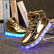 LED's Shoes Boy's Sneakers Spring Summer Fall Winter Light Up Shoes Outdoor Athletic Casual Flat Heel Hook & Loop Silver Gold