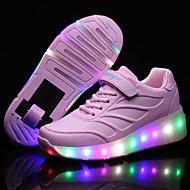 Kényelmes-Alacsony-Női cipő-Tornacipők-Szabadidős Alkalmi Sportos-PU-Fekete Kék Rózsaszín