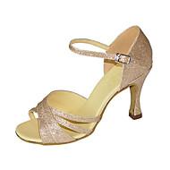 Chaussures de danse(Amande) -Personnalisables-Talon Personnalisé-Paillette Brillante-Latines Jazz Salsa Chaussures de Swing
