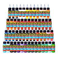 54 x 10 ml Variété Couleurs Encres de tatouage classique Pigment de tatouage Jeu de couleurs couleurs de maquillage