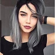 ломбера серый цвет синтетические кружева парики фронта волны моды ежедневно популярный синтетический парик фронта шнурка высокого качества