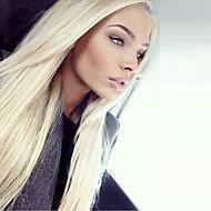 613 # blonde fargen syntetisk blonder foran parykk rett hår varmeresistent syntetisk fiber hår parykker
