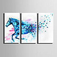Animal Moderno,3 Painéis Tela Vertical Impressão artística Decoração de Parede For Decoração para casa