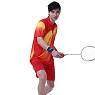 Ademend Comfortabel-Unisex-Badminton-Pakken/Kledingsets(Geel Rood Blauw)