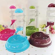 Chat Chien Bols & Bouteilles d'eau Animaux de Compagnie Bols & alimentation Etanche Vert Bleu Brun Rouge Rose Plastique